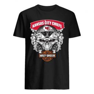 Kansas City Chiefs Motorcycles Harley Davidson Shirt