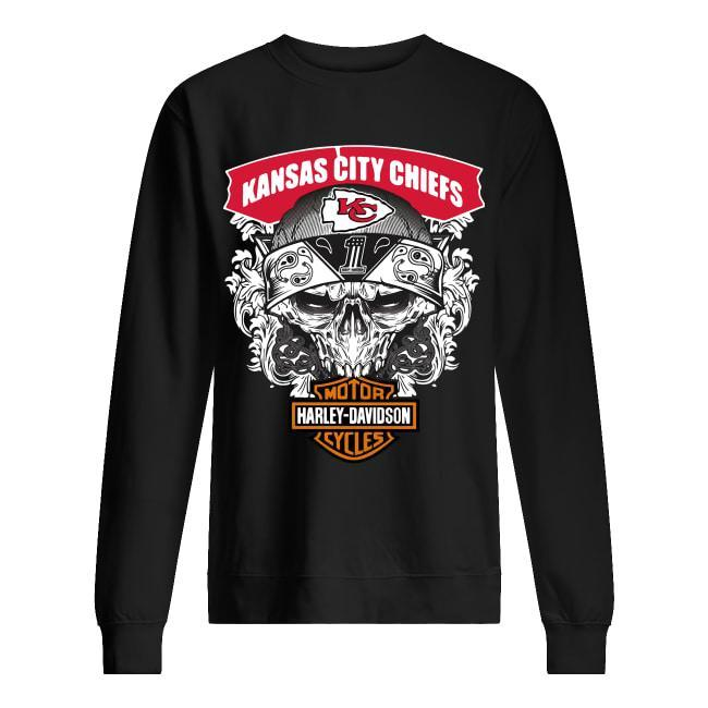 Kansas City Chiefs Motorcycles Harley Davidson Sweater