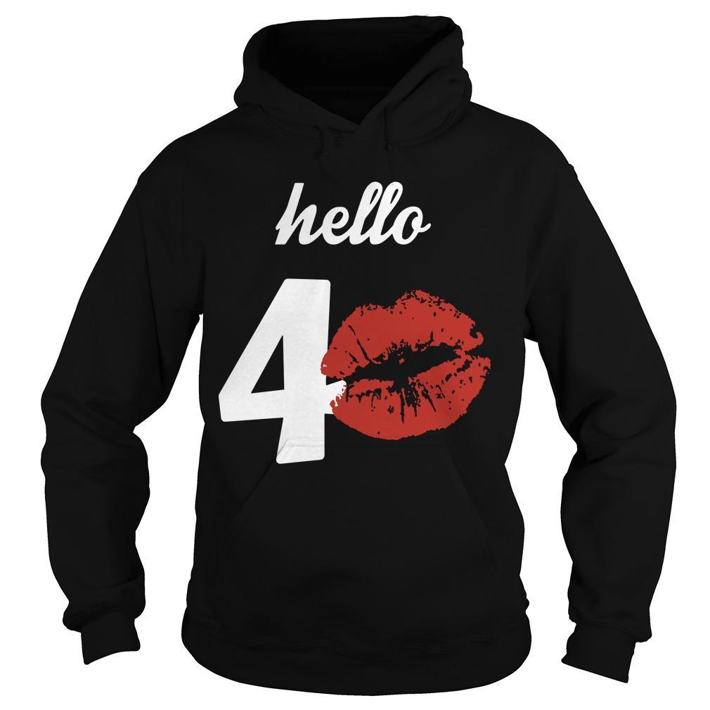 Kissing Hello 40 Hoodie