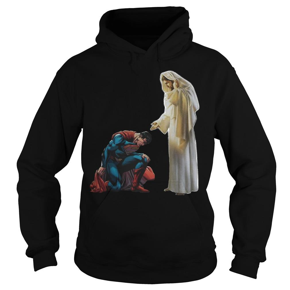 Kneel Before Jesus Superman Hoodie