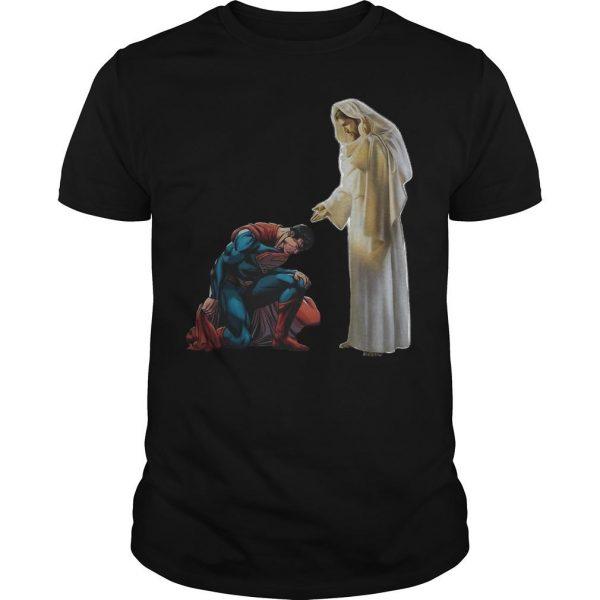 Kneel Before Jesus Superman Shirt