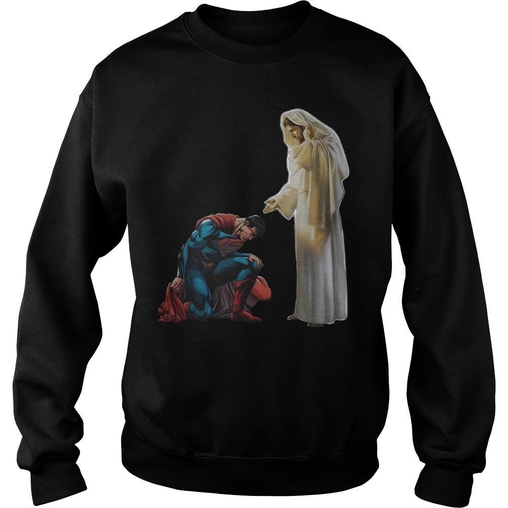 Kneel Before Jesus Superman Sweater
