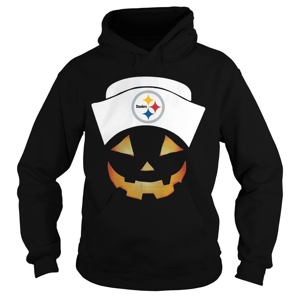Nurse Pumpkin Face Pittsburgh Steelers Hoodie
