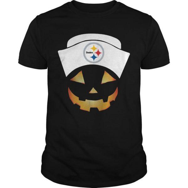 Nurse Pumpkin Face Pittsburgh Steelers Shirt