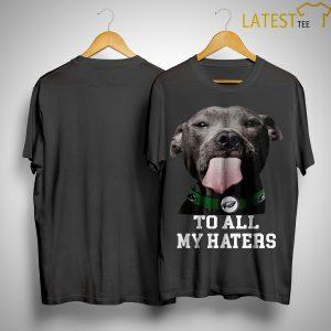Philadelphia Eagles Pitbull To All My Haters Shirt