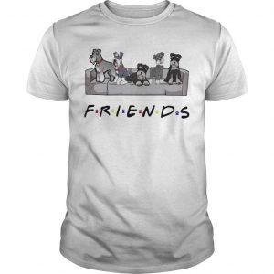 Schnauzer On Sofa Friends Shirt
