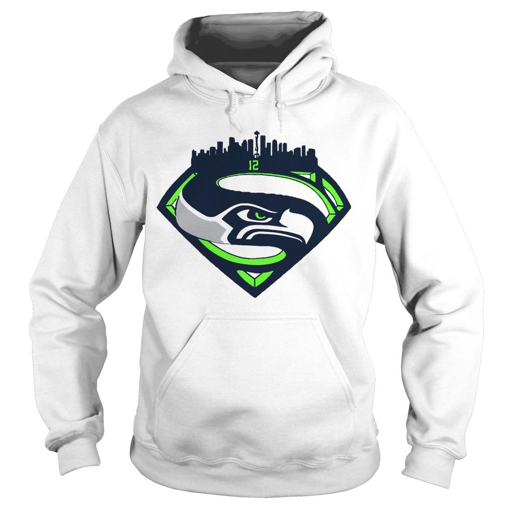 Seattle Seahawks Superman 12 Hoodie