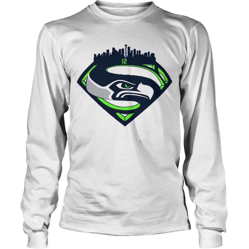 Seattle Seahawks Superman 12 Longsleeve