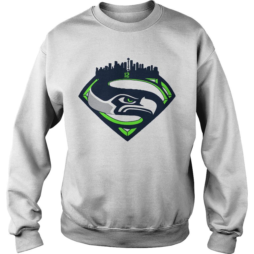 Seattle Seahawks Superman 12 Sweater