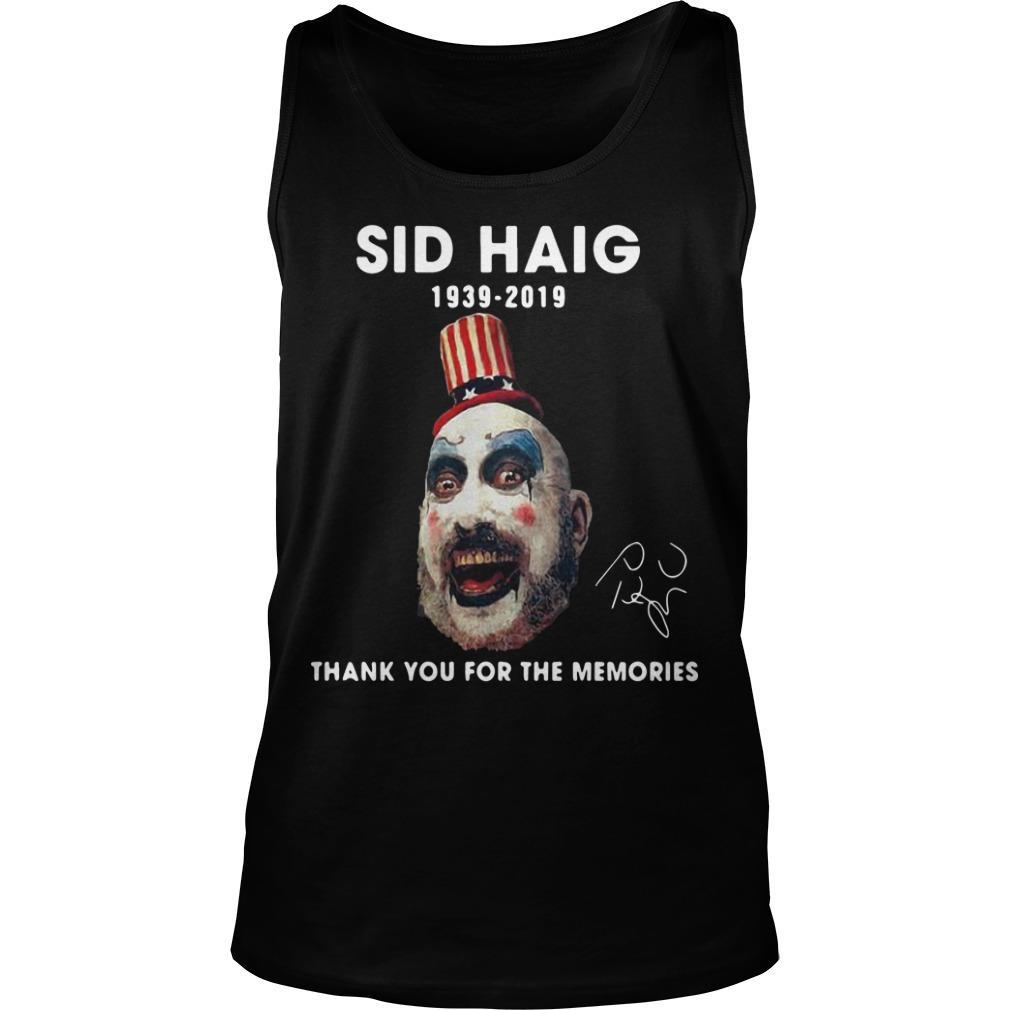 Sid Haig 1939 2019 Thank You For The Memories Signature Tank Top