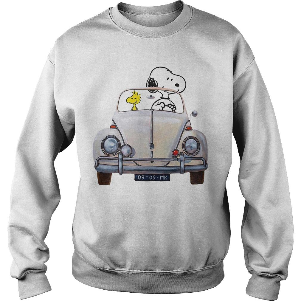 Snoopy And Woodstock Driving Volkswagen Beetle Sweater