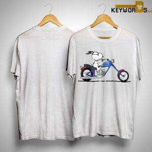 Snoopy Riding Motorcycle Peanuts Shirt