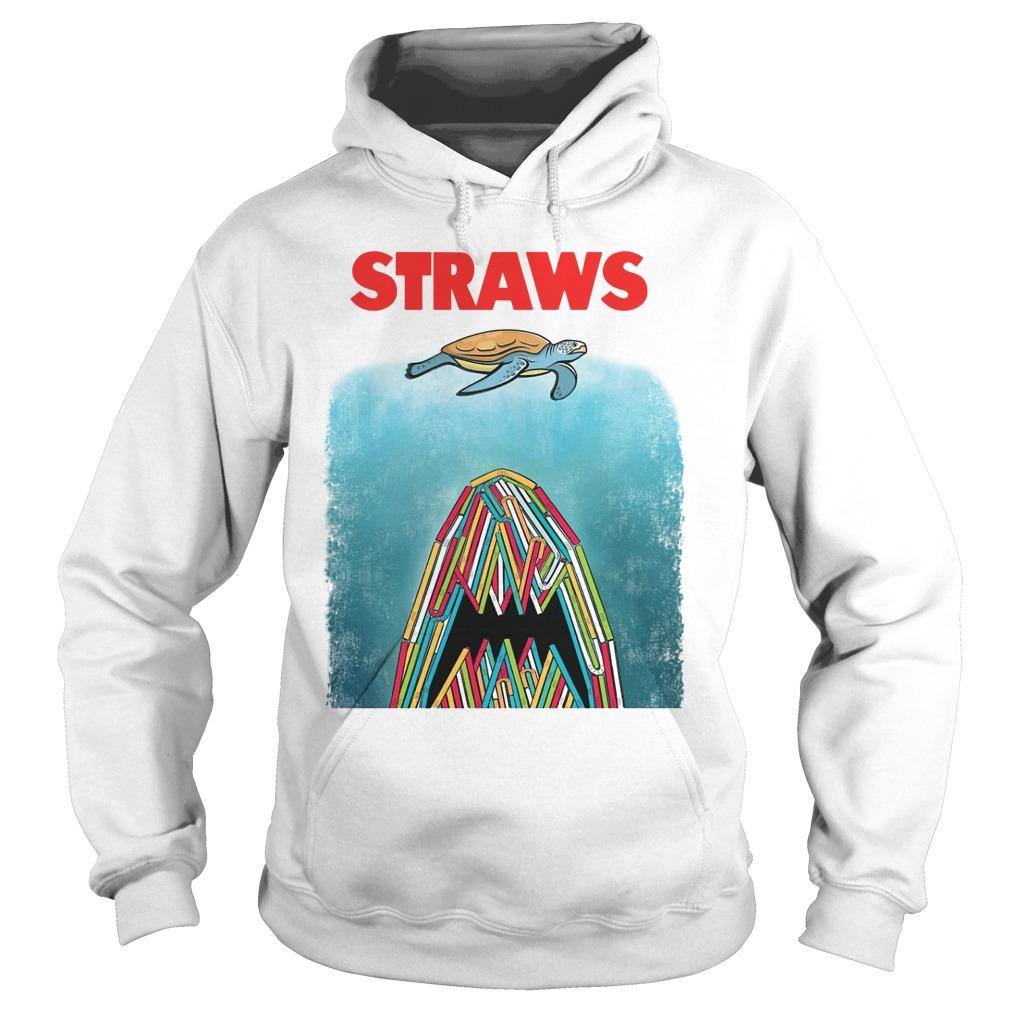Straws Turtle And Shark Hoodie