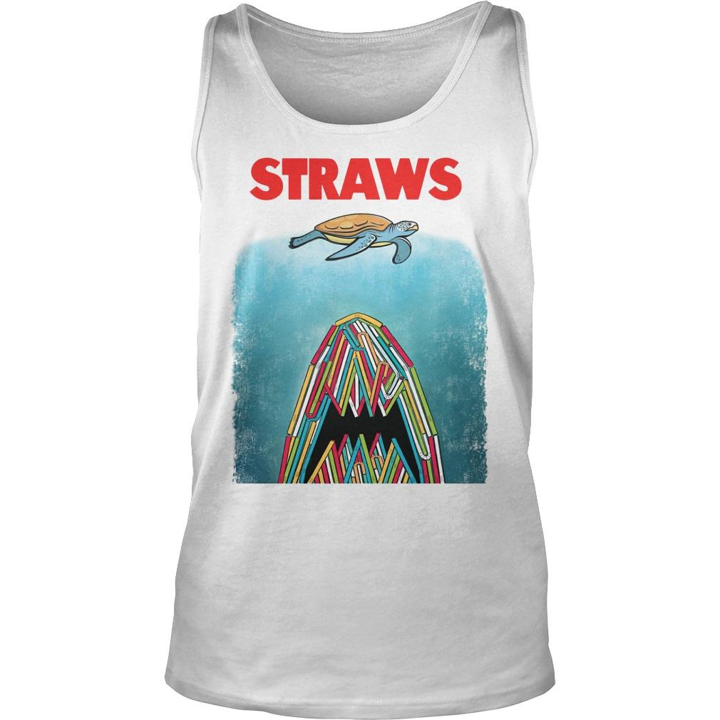 Straws Turtle And Shark Tank Top