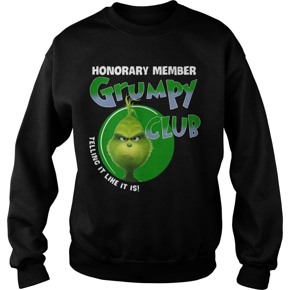 The Grinch Honorary Member Grumpy Club Telling It Like It Is Sweater