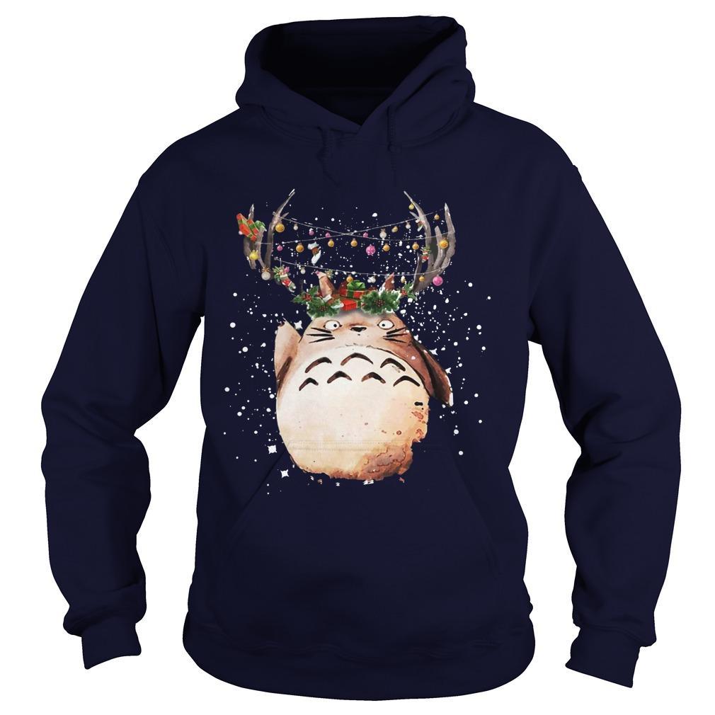Totoro Christmas Reindeer Hoodie