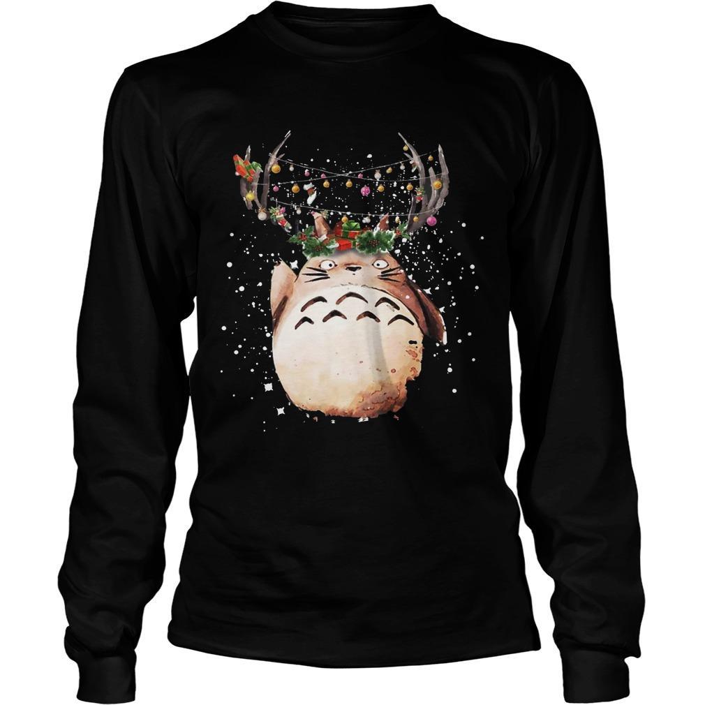 Totoro Christmas Reindeer Longsleeve