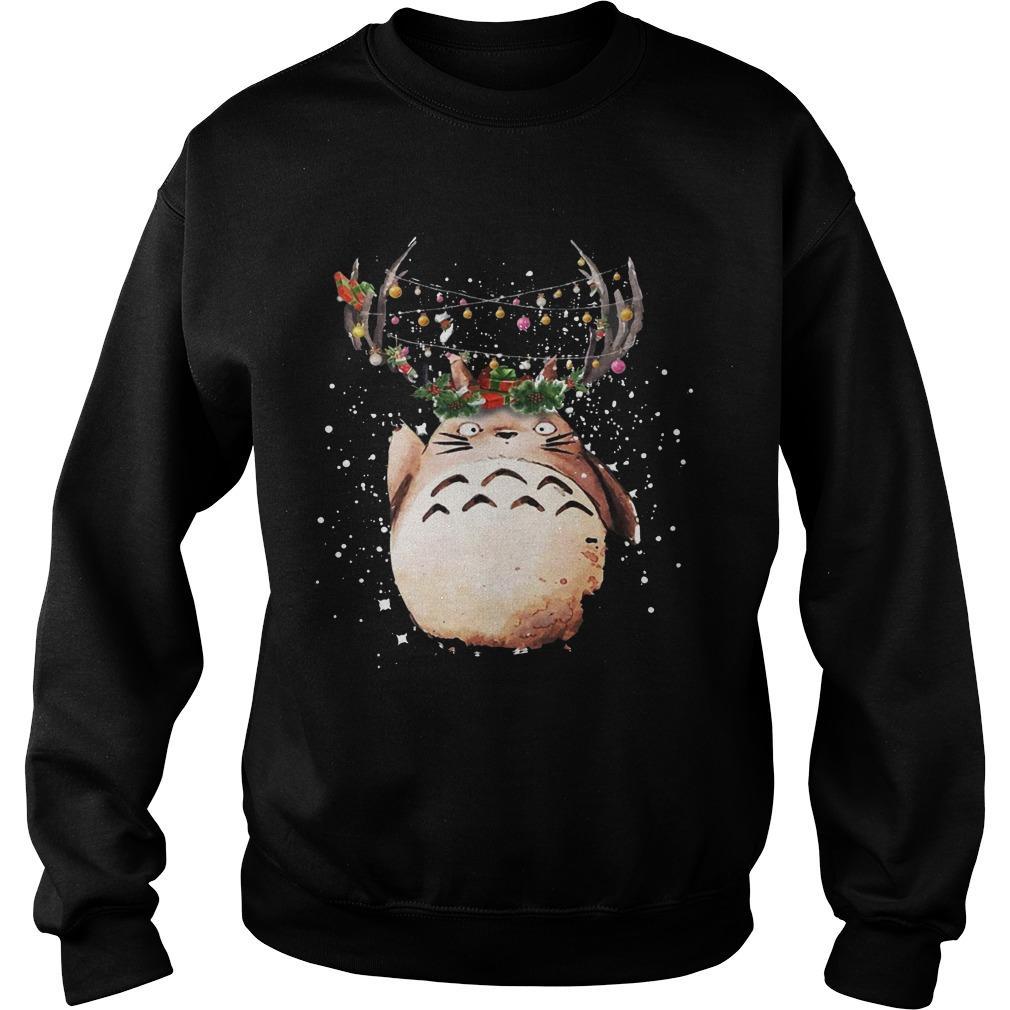 Totoro Christmas Reindeer Sweater