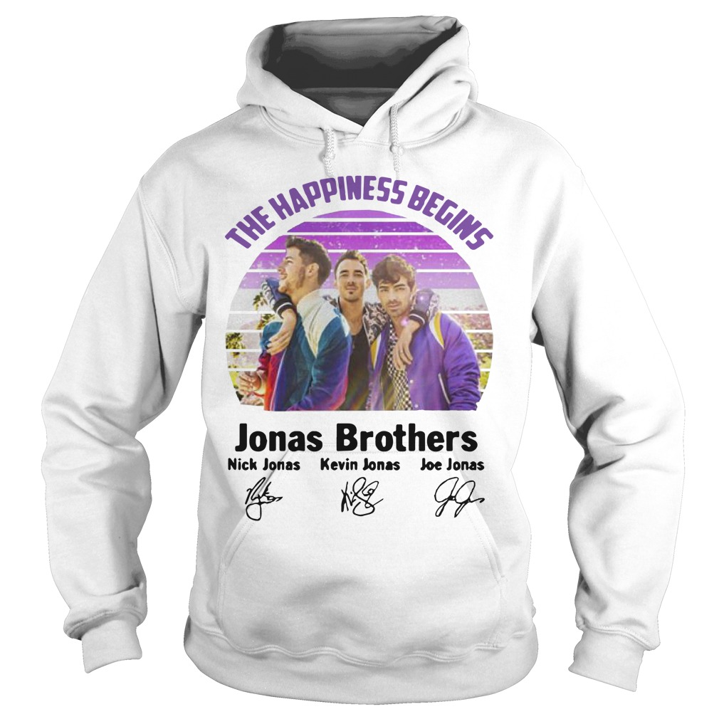 Vintage The Happiness Begins Jonas Brothers Signatures Hoodie