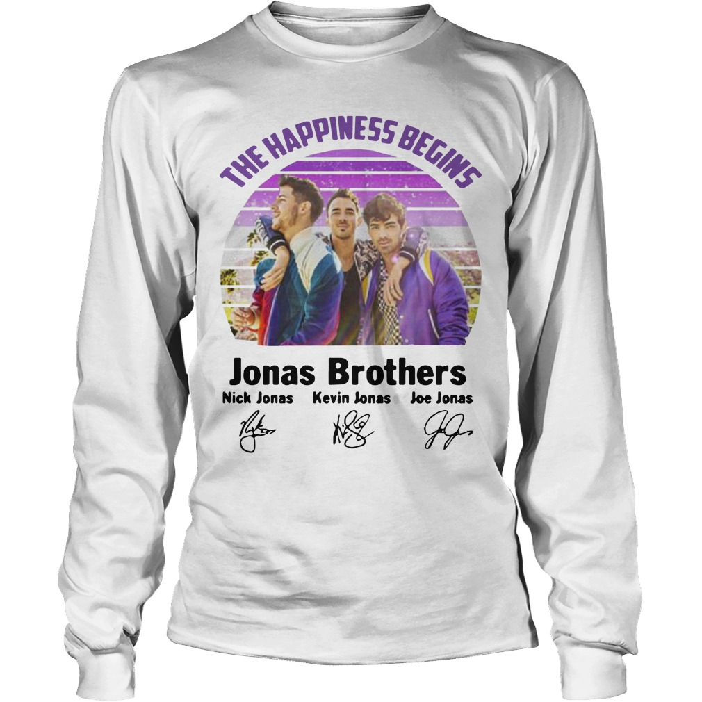 Vintage The Happiness Begins Jonas Brothers Signatures Longsleeve