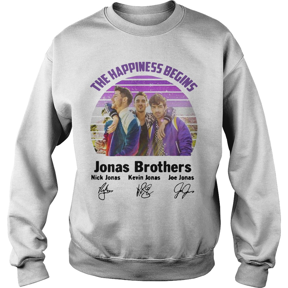 Vintage The Happiness Begins Jonas Brothers Signatures Sweater