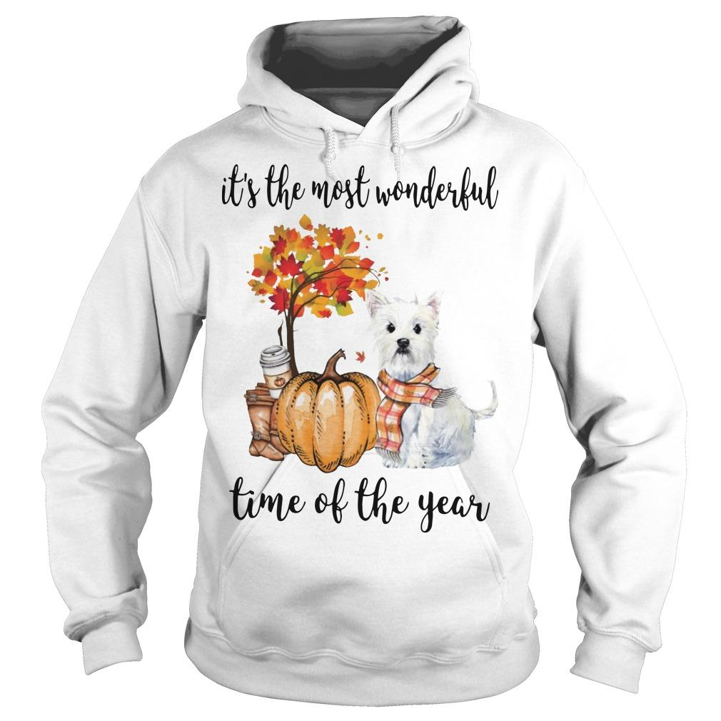 Westie It's The Most Wonderful Time Of The Year Hoodie