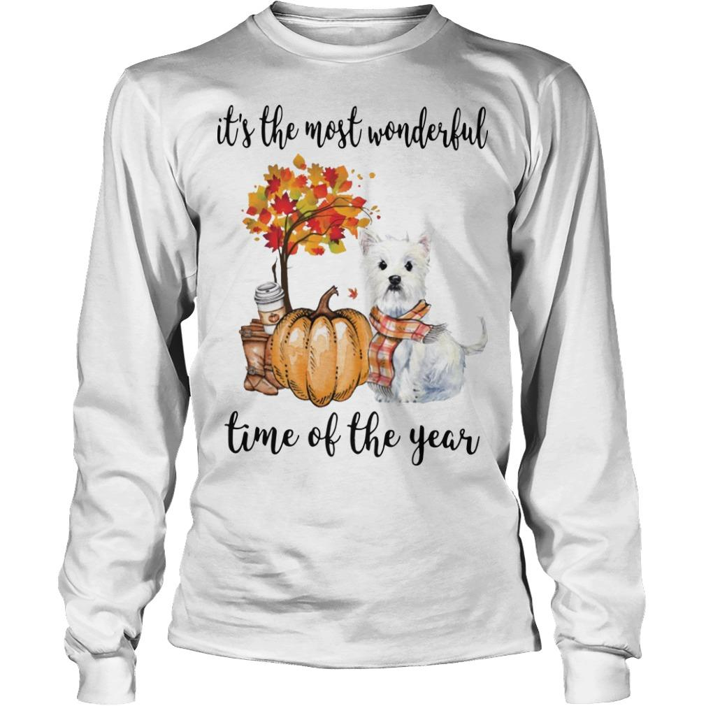 Westie It's The Most Wonderful Time Of The Year Longsleeve