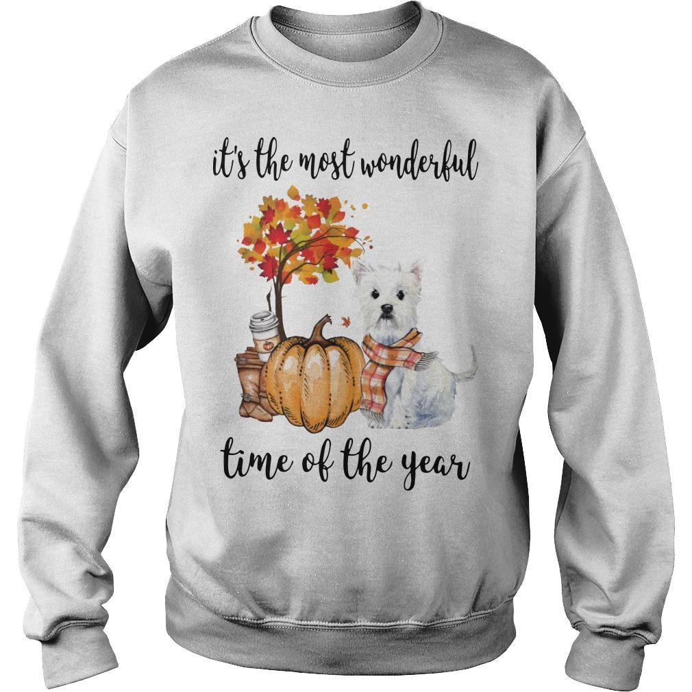 Westie It's The Most Wonderful Time Of The Year Sweater