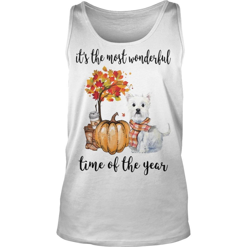 Westie It's The Most Wonderful Time Of The Year Tank Top