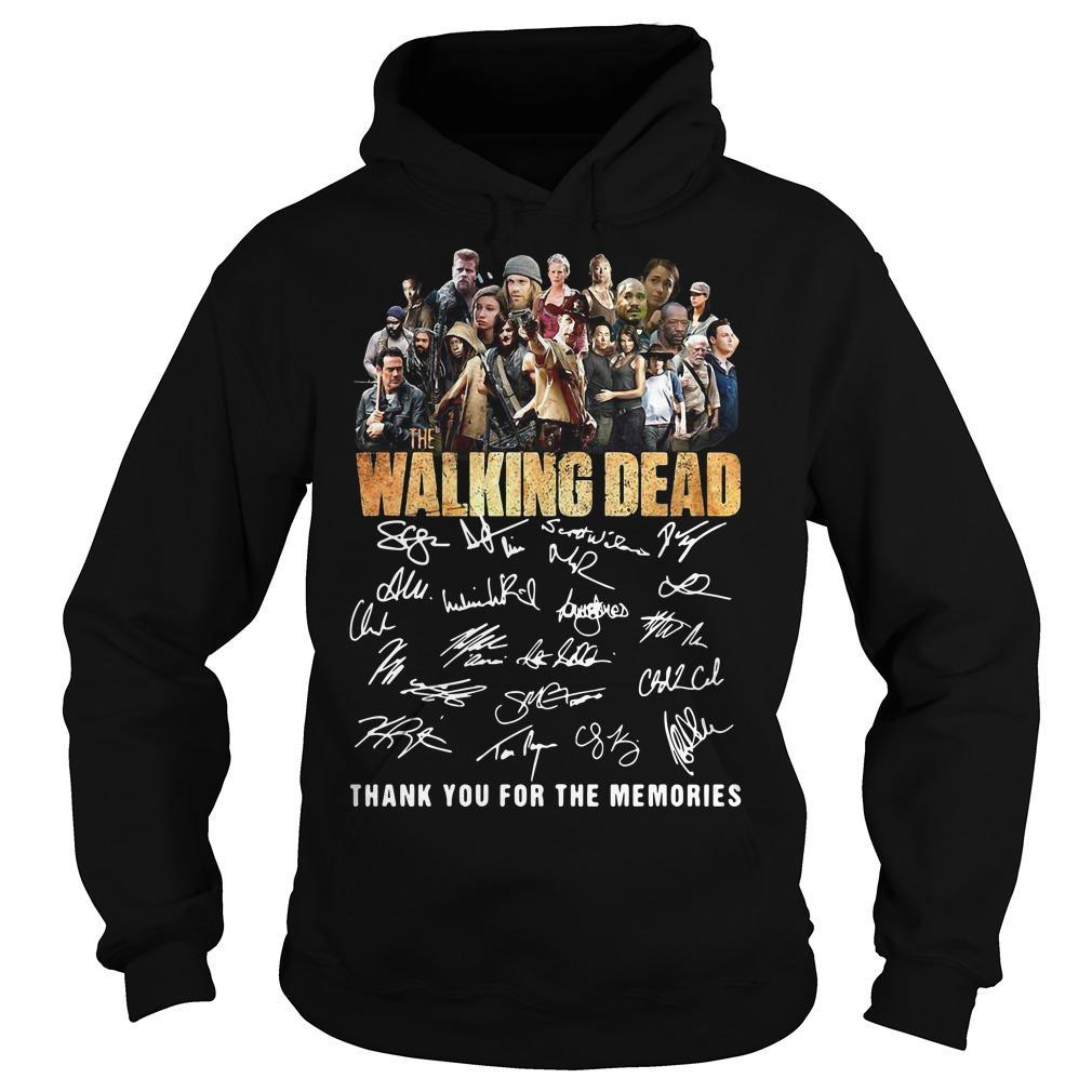 10th Anniversary The Walking Dead Thank You For The Memories Signatures Hoodie