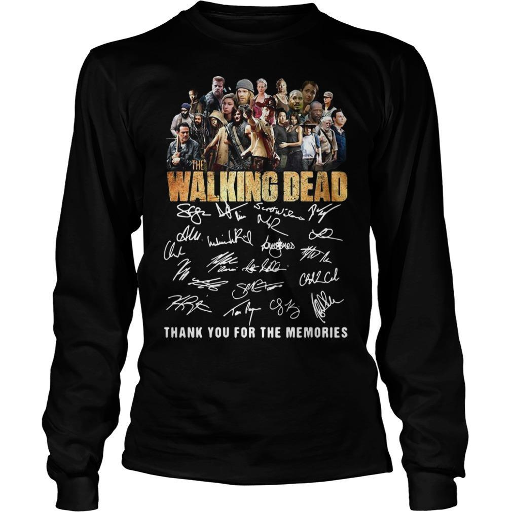 10th Anniversary The Walking Dead Thank You For The Memories Signatures Longsleeve