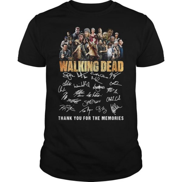 10th Anniversary The Walking Dead Thank You For The Memories Signatures Shirt