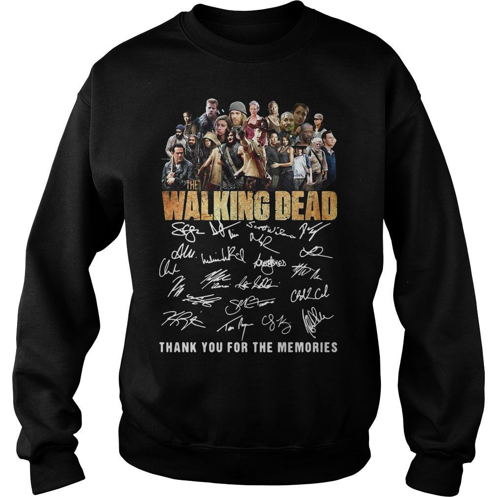 10th Anniversary The Walking Dead Thank You For The Memories Signatures Sweater