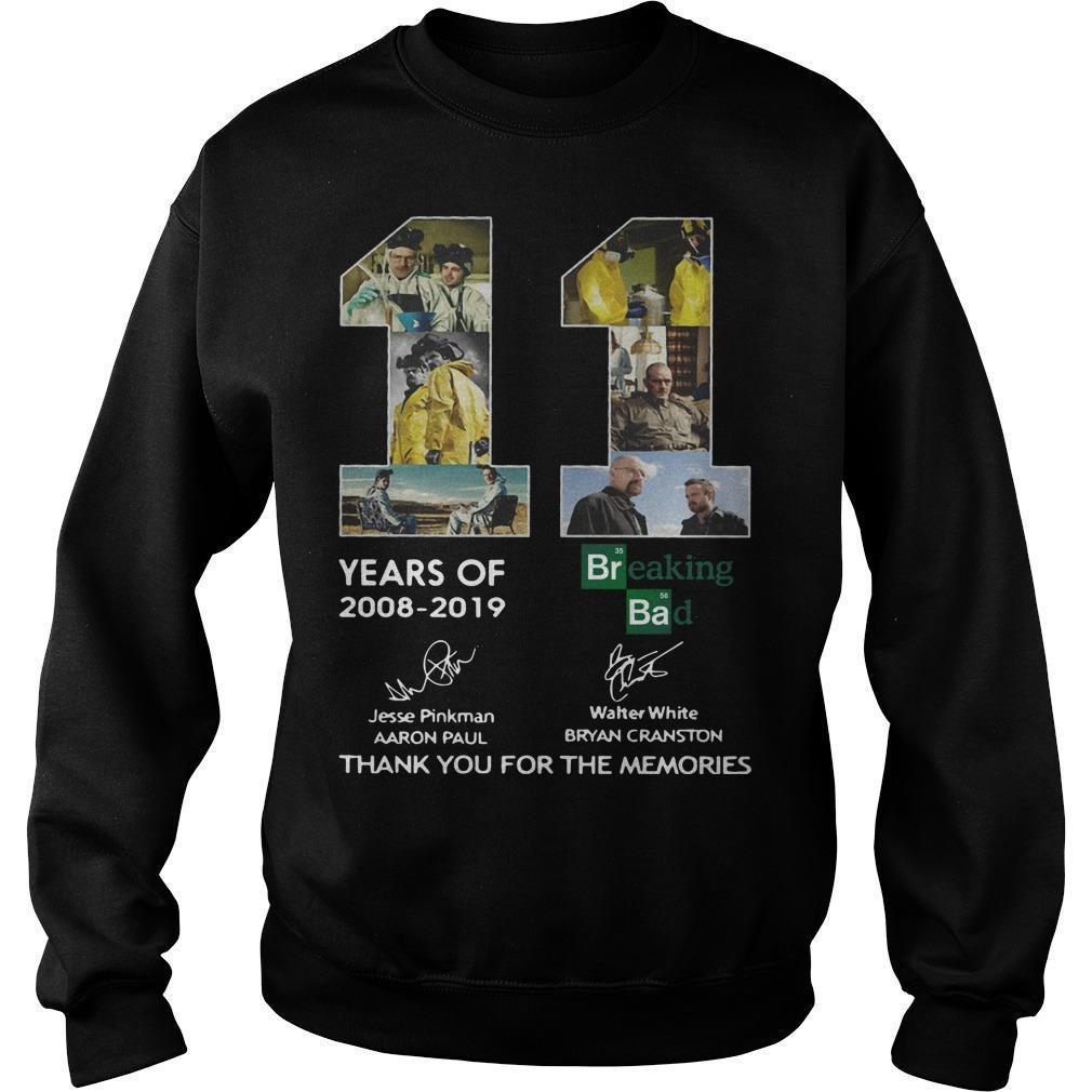 11 Years Of Breaking Bad 2008 2019 Thank You For The Memories Signatures Sweater