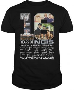 16 Years Of Ncis 2003 2019 Thank You For The Memories Signatures Shirt