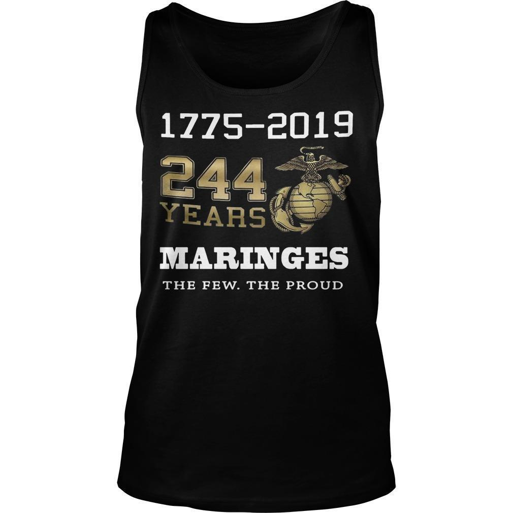 1775 2019 244 Years Marines The Few The Proud Tank Top
