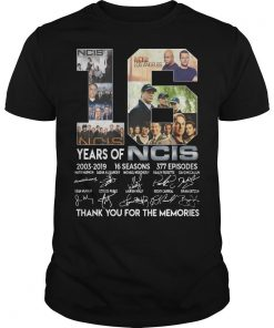 18 Years Of Ncis 2003 2019 Thank You For The Memories Signatures Shirt