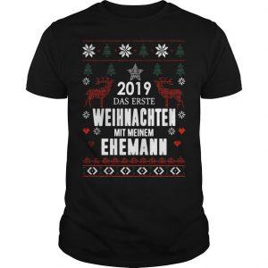 2019 Das Erste Weihnachten Mit Meinem Ehemann Shirt
