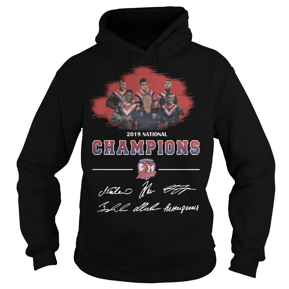 2019 National Champions Sydney Roosters Signatures Hoodie