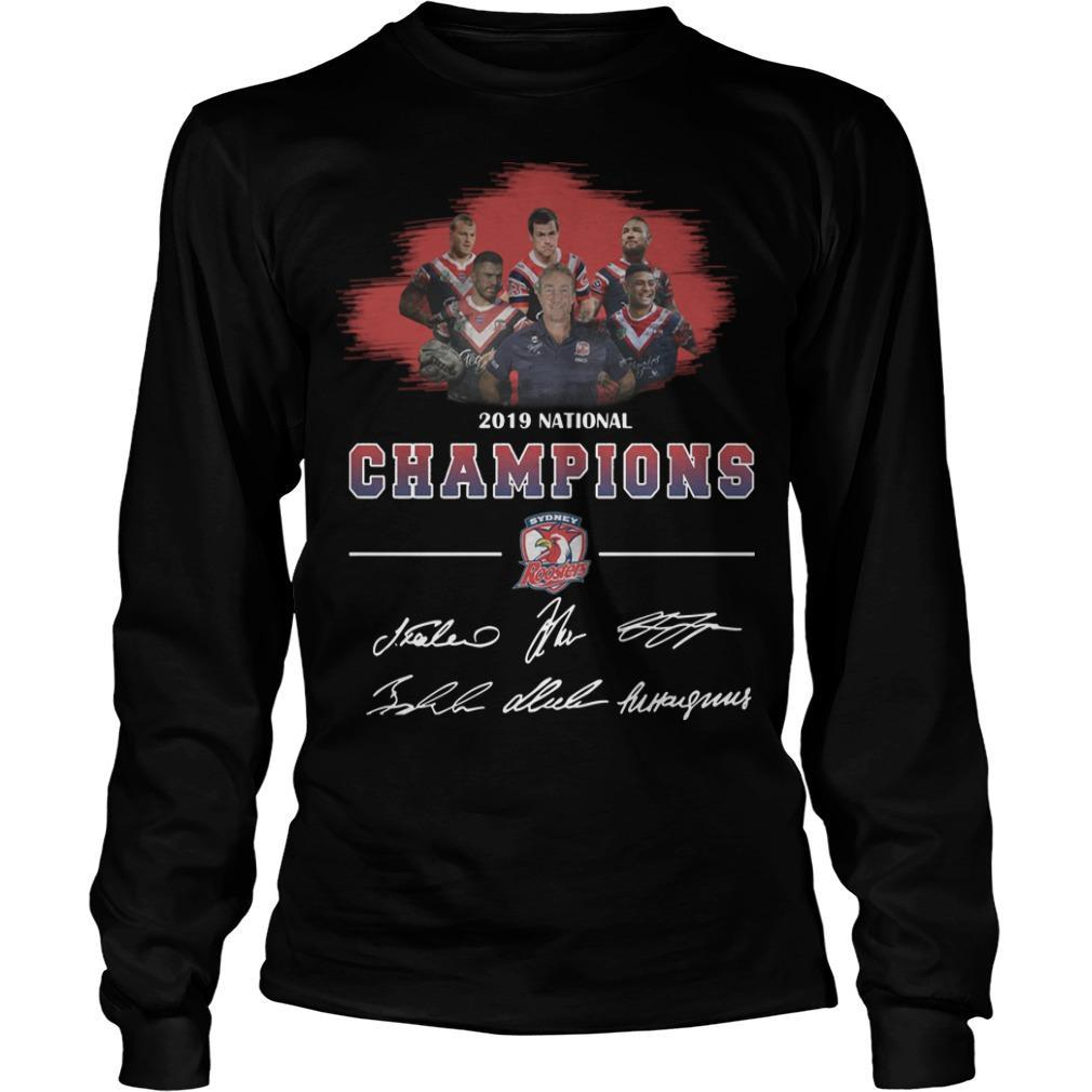 2019 National Champions Sydney Roosters Signatures Longsleeve