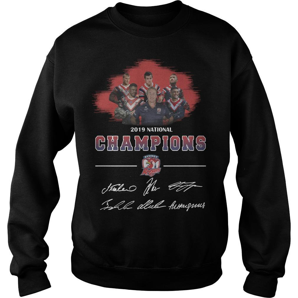 2019 National Champions Sydney Roosters Signatures Sweater