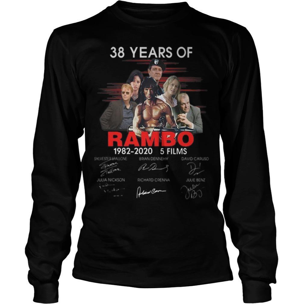 38 Years Of Rambo 1982 2020 5 Films Signatures Longsleeve