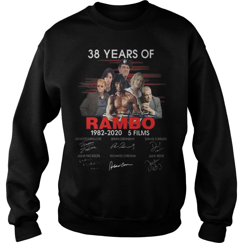 38 Years Of Rambo 1982 2020 5 Films Signatures Sweater