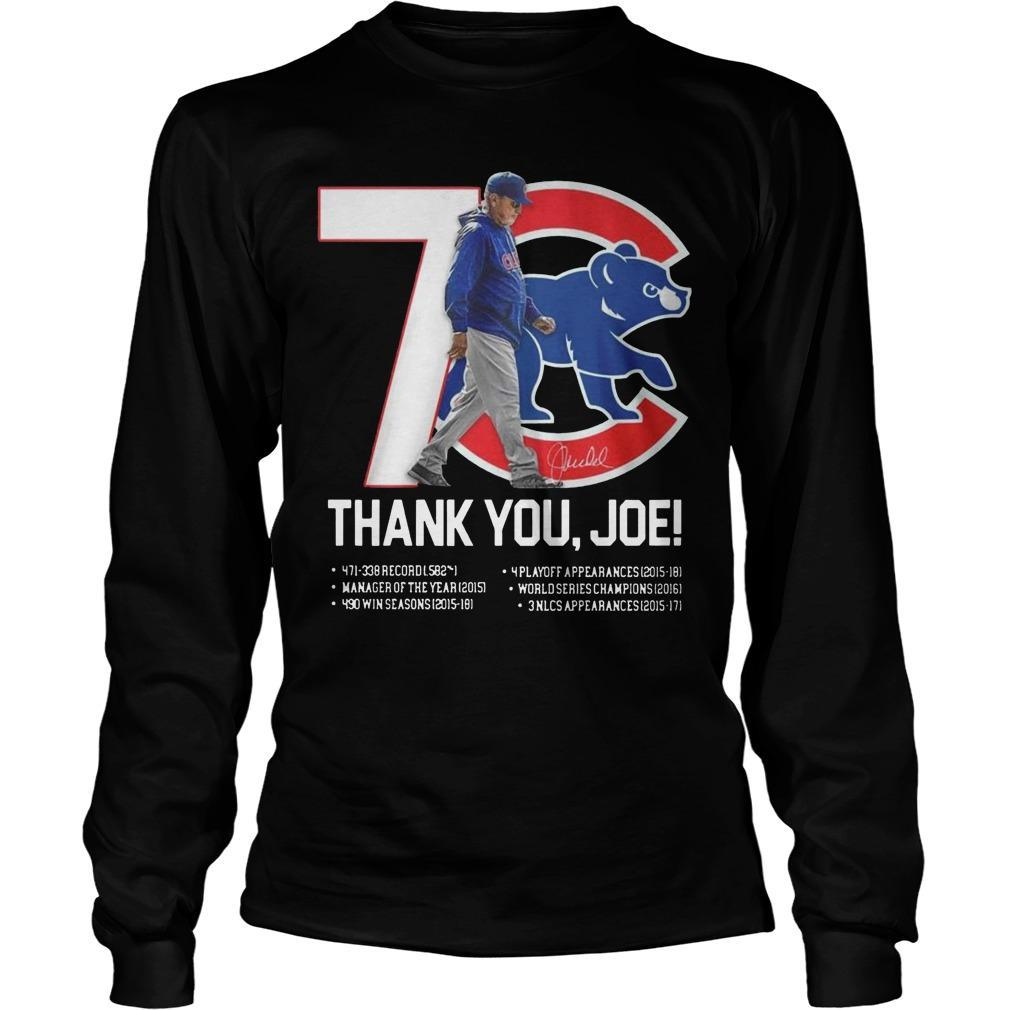 7 Chicago Cubs Thank You Joe Longsleeve