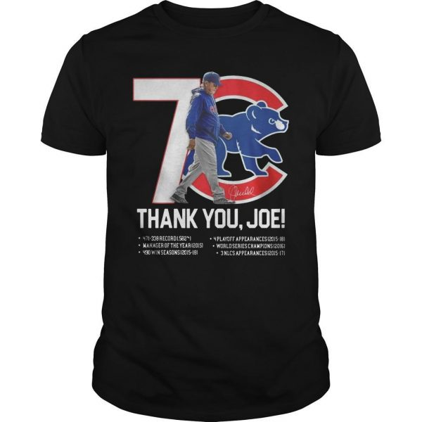7 Chicago Cubs Thank You Joe Shirt