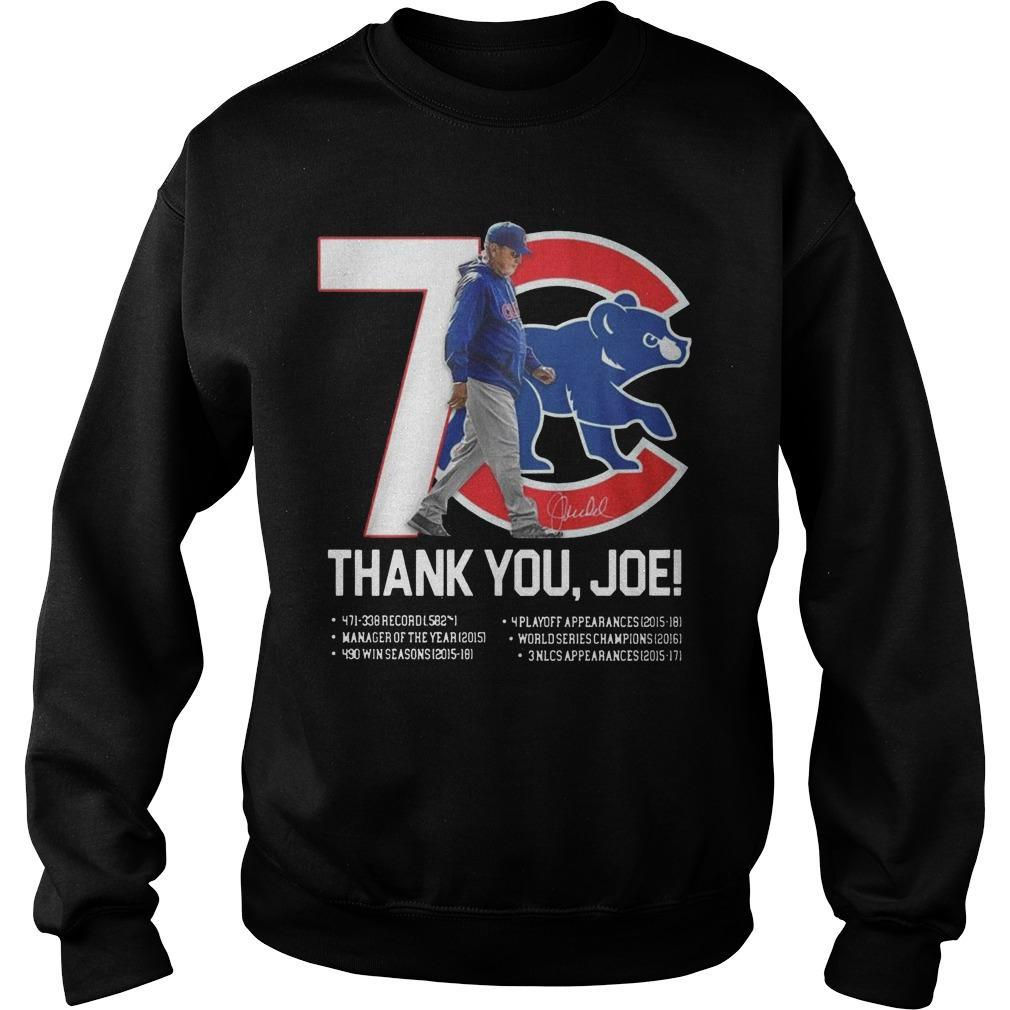 7 Chicago Cubs Thank You Joe Sweater