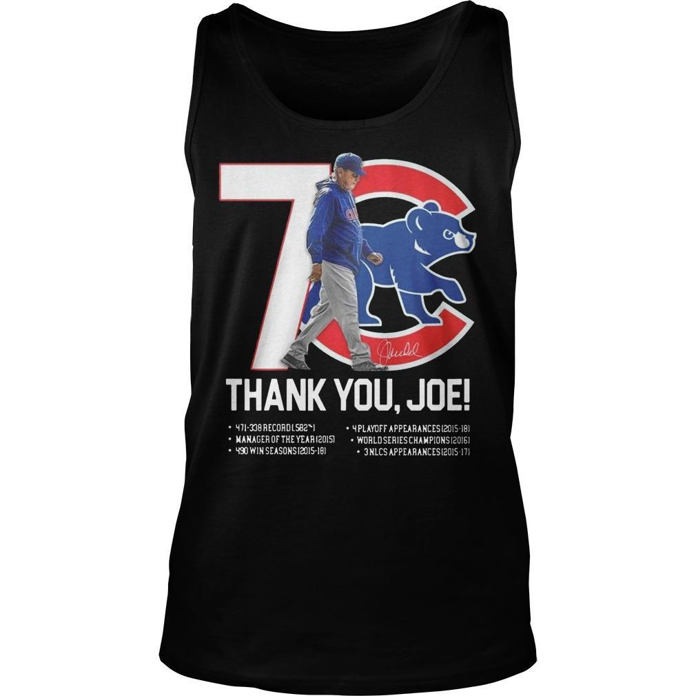 7 Chicago Cubs Thank You Joe Tank Top