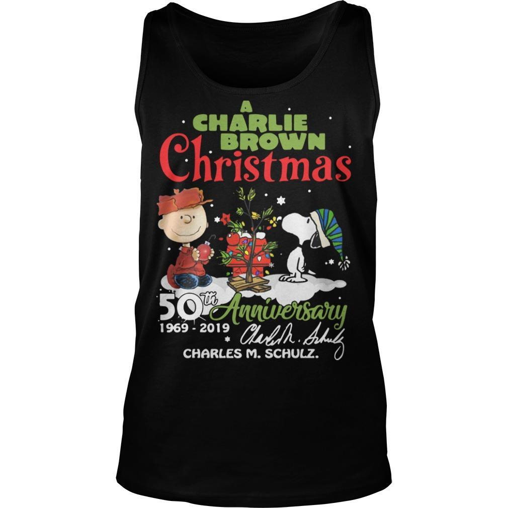 A Charlie Brown Chritsmas 50th Anniversary 1969 2019 Tank Top
