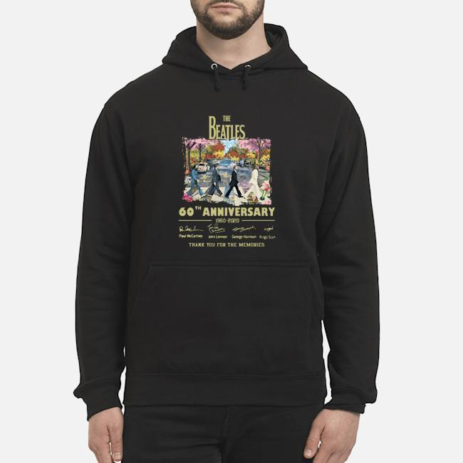 Abbey Road Under Blossom The Beatles 60 Anniversary Thank You For The Memories Hoodie