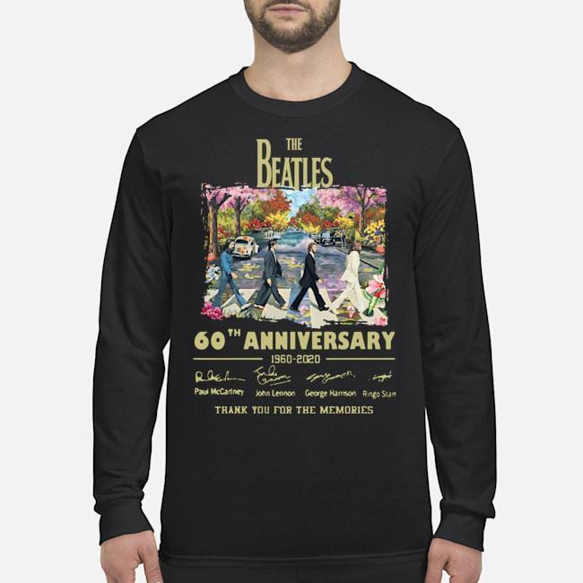 Abbey Road Under Blossom The Beatles 60 Anniversary Thank You For The Memories Longsleeve